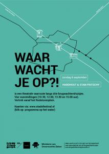 waar wacht je op stadsfestival zwolle vaarroute Affiche Waar wacht je op, ontworpen door: Willemieke van den Brink, echter ontwerp